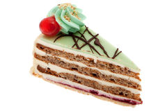 Cake with marzipan Royalty Free Stock Photos