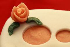 Cake with marzipan roses Stock Image