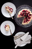 Cake With Mascarpone And Red Fruits Stock Photography