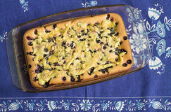 Cake med blåbäret Arkivbild