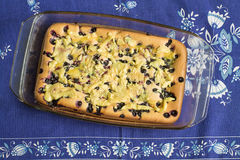 Cake med blåbäret Royaltyfria Bilder