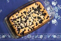Cake med blåbäret Royaltyfri Bild