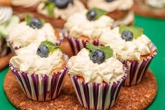 Cake med blåbäret Royaltyfri Foto