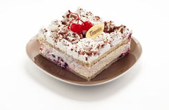 Cake med frukt arkivbilder