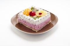 Cake med frukt Royaltyfri Foto