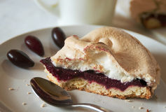 Cake with meringue Stock Images