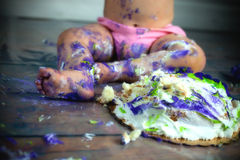 Cake Mess Stock Photography