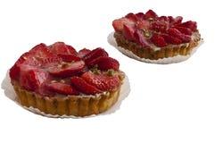 Cake met aardbei Stock Foto's