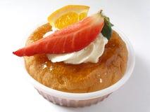 Cake met aardbei Royalty-vrije Stock Foto's