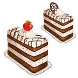 Cake met aardbei Stock Afbeelding