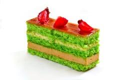 Cake met aardbeien Stock Afbeeldingen