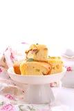 Cake met appelen Royalty-vrije Stock Afbeeldingen