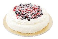 Cake met bessen stock fotografie