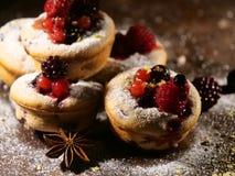 Cake met bluberriesvruchten Stock Afbeelding