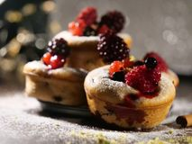 Cake met bluberriesvruchten Royalty-vrije Stock Foto