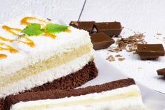 Cake met chocolade Stock Afbeelding