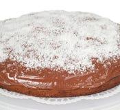 Cake met chocolade en kokosnoot Stock Afbeeldingen
