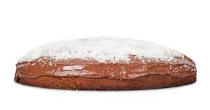 Cake met chocolade en kokosnoot Stock Fotografie