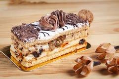 Cake met chokolate Royalty-vrije Stock Foto's