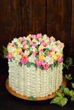 Cake met de lentedecor Royalty-vrije Stock Fotografie