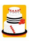 Cake met de rozen Royalty-vrije Stock Afbeeldingen