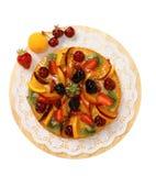 Cake met een mengeling van fruit Royalty-vrije Stock Afbeelding