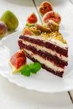 Cake met fig Stock Afbeelding