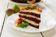 Cake met fig Royalty-vrije Stock Afbeelding