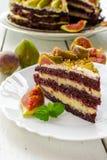 Cake met fig Stock Foto