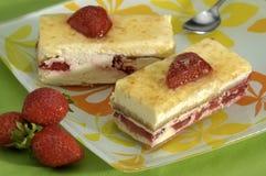 Cake met Fruit Stock Afbeeldingen