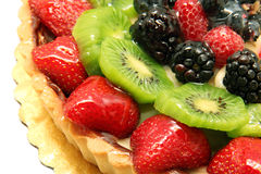 Cake met fruit Stock Foto's