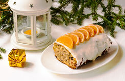 Cake met gekonfijte vruchten Royalty-vrije Stock Foto