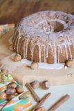 Cake met hazelnutz Royalty-vrije Stock Foto