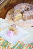 Cake met hazelnutz Stock Afbeelding