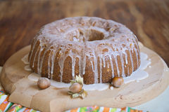 Cake met hazelnutz Stock Afbeeldingen