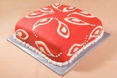 Cake met het Patroon van Paisley Royalty-vrije Stock Afbeeldingen