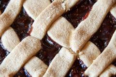 Cake met jam Stock Foto's