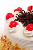 Cake met kersen royalty-vrije stock foto's