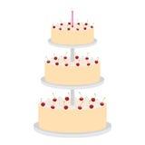 Cake met kersen Stock Foto's