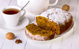 Cake met noten Royalty-vrije Stock Afbeelding