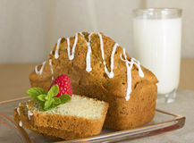 Cake met papaver Royalty-vrije Stock Afbeelding