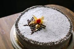 Cake met papaverzaden Stock Foto's