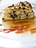 Cake met peren en chocolade Royalty-vrije Stock Afbeelding