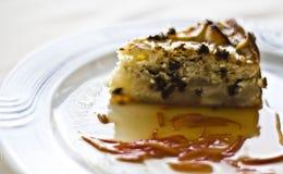 Cake met peren en chocolade Royalty-vrije Stock Foto