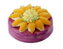 Cake met perzik royalty-vrije stock afbeelding