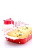 Cake met perziken Stock Fotografie