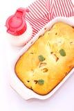 Cake met perziken Royalty-vrije Stock Foto's