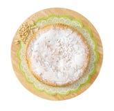 Cake met pijnboomnoten Royalty-vrije Stock Foto's