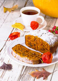 Cake met pompoen Stock Foto's