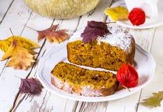 Cake met pompoen Stock Foto